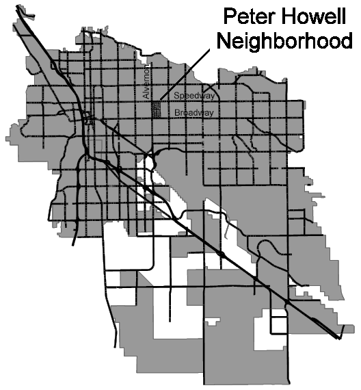 Map of Peter Howell Neighborhood